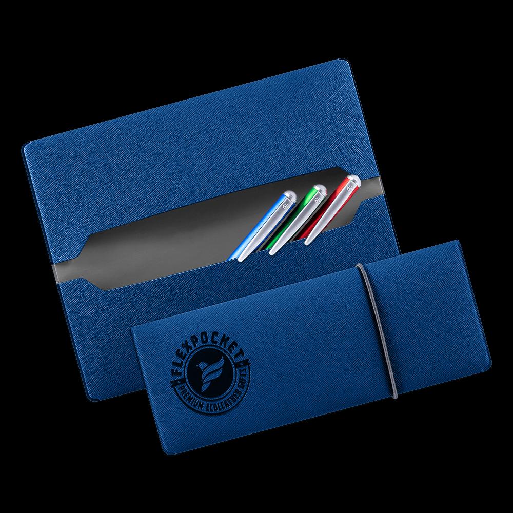 Пенал на резинке, цвет темно-синий