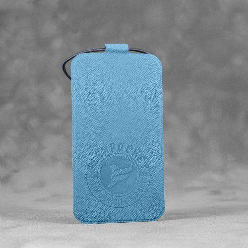 Багажная бирка на резинке, цвет голубой