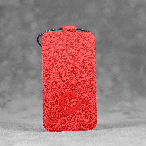 Багажная бирка на резинке, цвет красный