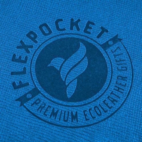Багажная бирка на виниловой петле, цвет синий