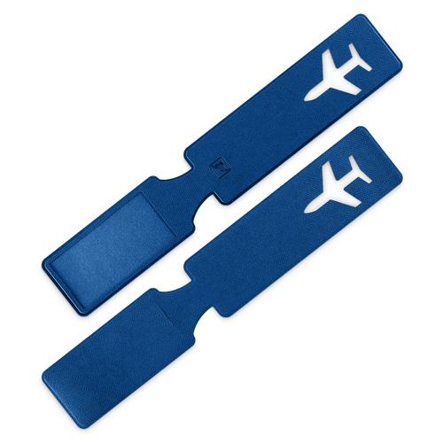 Багажная бирка, цвет синий