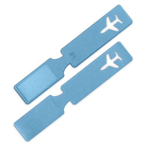 Багажная бирка, цвет голубой