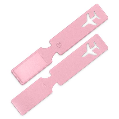 Багажная бирка, цвет розовый