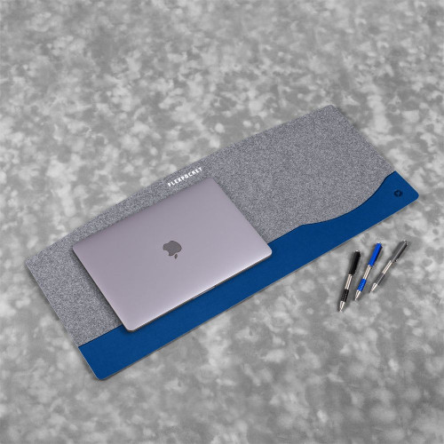 Настольный мат из фетра — большой, цвет темно-синий