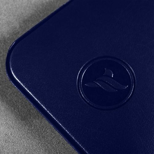 Антисептик-картридж 25мл в чехле из экокожи, цвет темно-синий classic