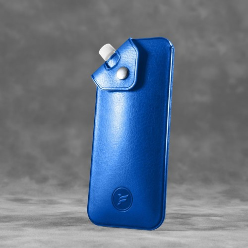 Антисептик-картридж 25мл в чехле из экокожи, цвет синий classic