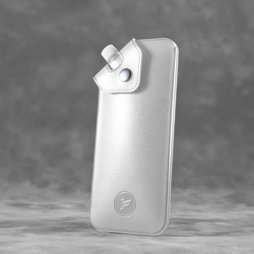 Антисептик-картридж 25мл в чехле из экокожи, цвет белый classic