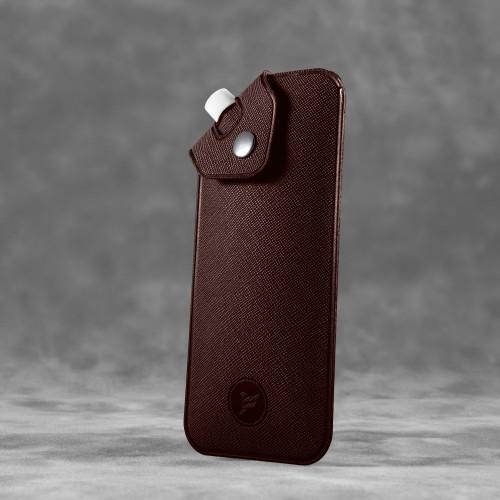 Антисептик-картридж 25мл в чехле из экокожи, цвет коричневый
