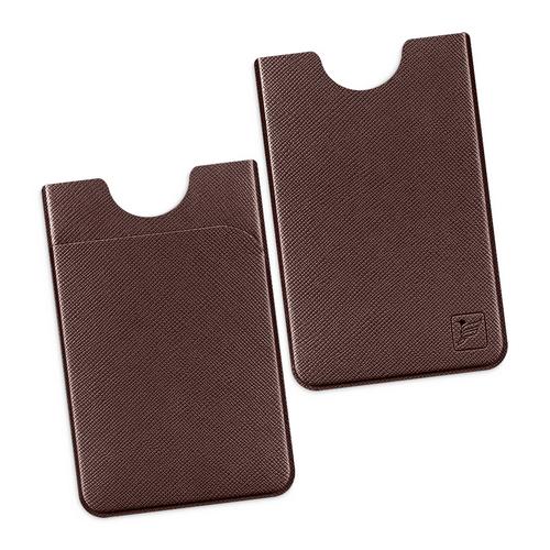 Чехол с двойным карманом, цвет коричневый