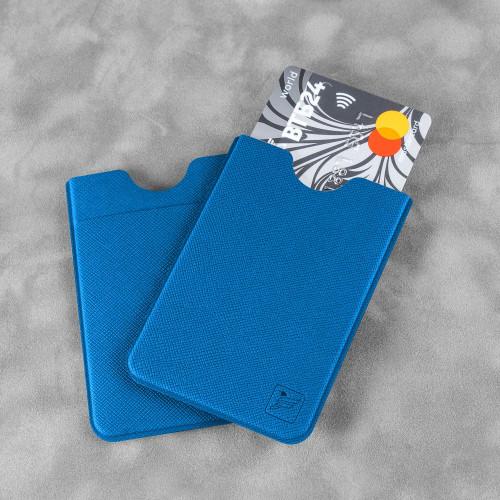 Чехол с двойным карманом, цвет синий