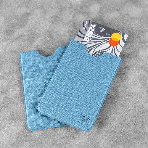 Чехол с двойным карманом, цвет голубой