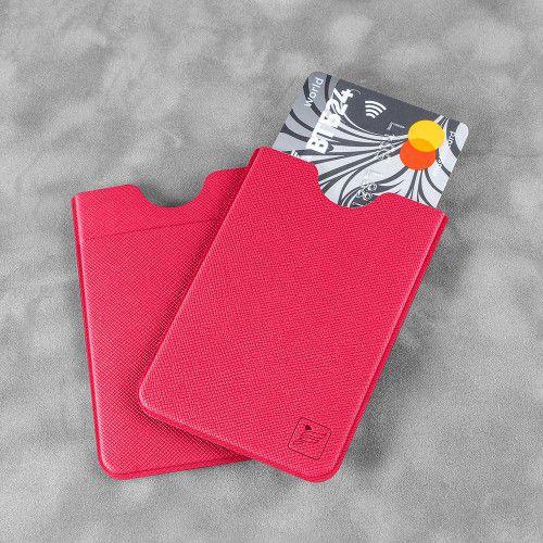Чехол с двойным карманом, цвет маджента