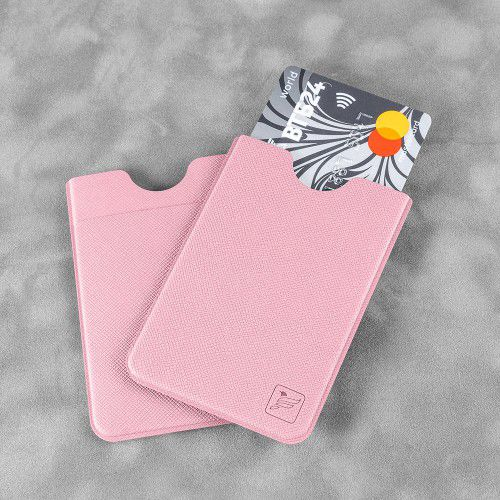 Чехол с двойным карманом, цвет розовый