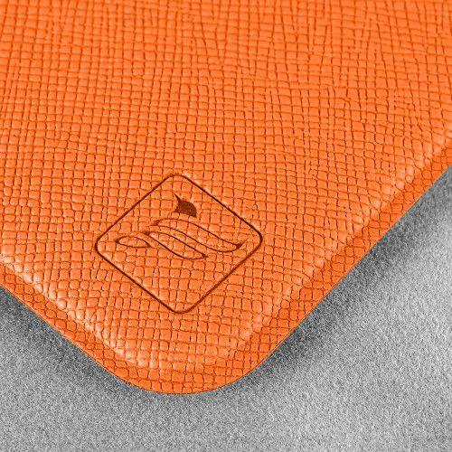 Чехол с двойным карманом, цвет оранжевый