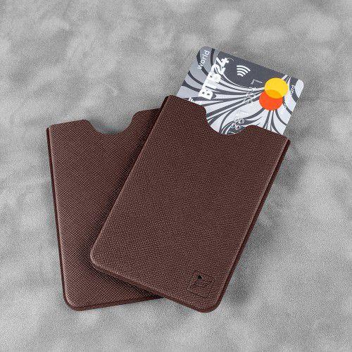 Чехол для пластиковой карты, цвет коричневый
