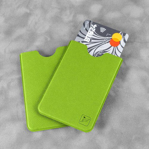 Чехол для пластиковой карты, цвет зеленый