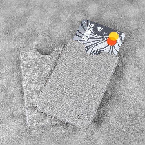 Чехол для пластиковой карты, цвет светло-серый
