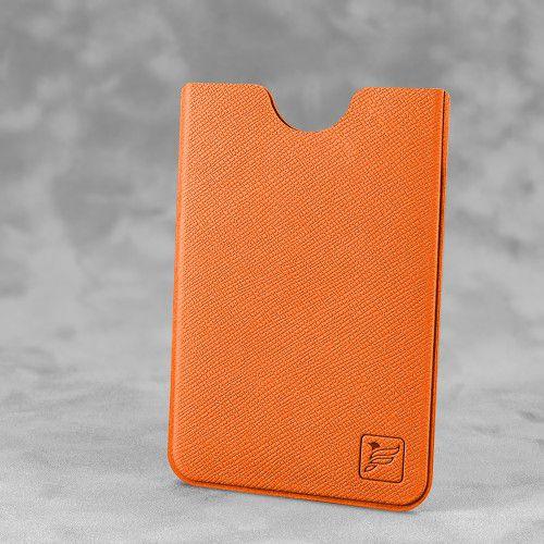 Чехол для пластиковой карты, цвет оранжевый