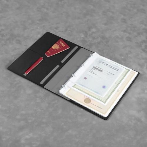 Органайзер для документов A4 на кольцах, цвет черный