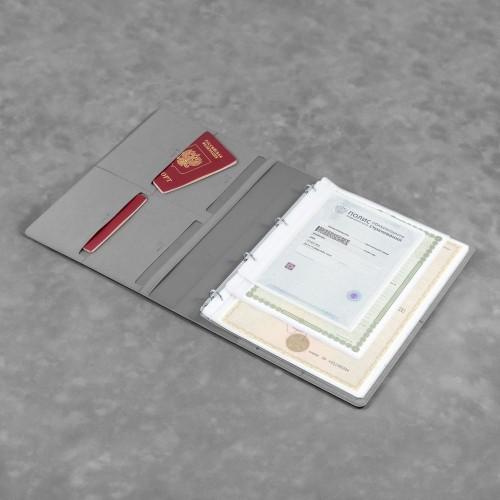 Органайзер для документов A4 на кольцах, цвет светло-серый