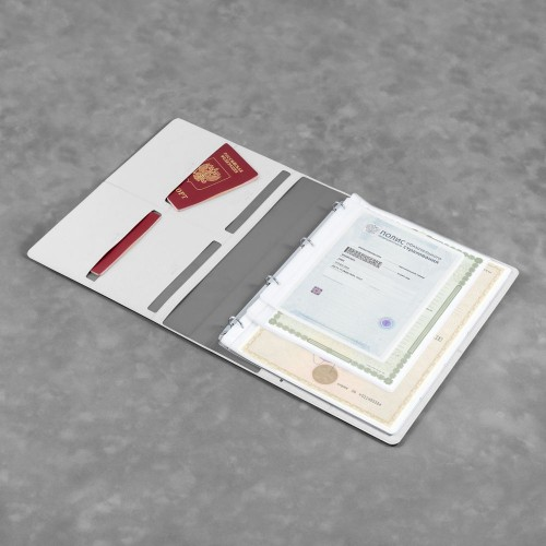 Органайзер для документов A4 на кольцах, цвет белый