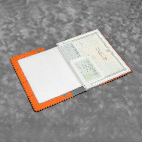Органайзер для документов, цвет оранжевый