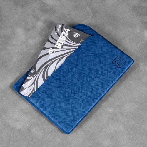 Футляр для пластиковых карт, цвет темно-синий