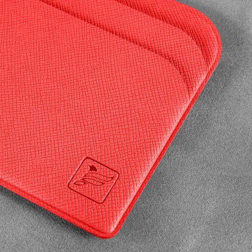 Футляр для пластиковых карт, цвет красный