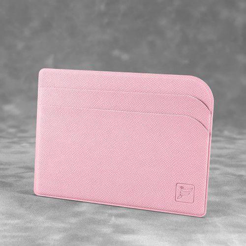 Футляр для пластиковых карт, цвет розовый