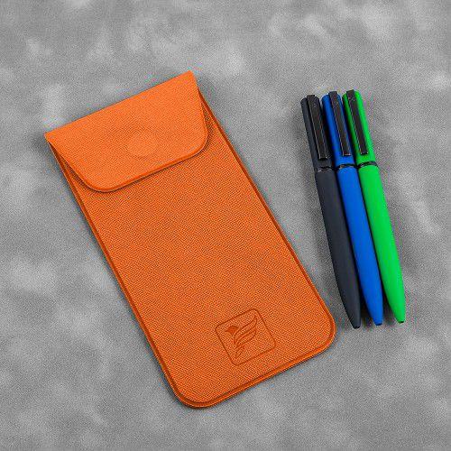 Футляр для ручек, цвет оранжевый