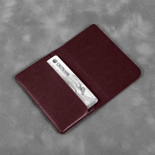 Жесткий футляр для трех пластиковых карт, цвет коричневый classic