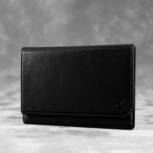 Жесткий футляр для трех пластиковых карт, цвет черный classic