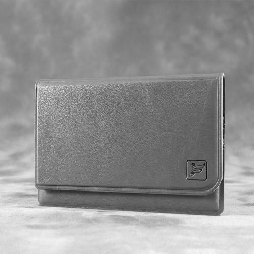 Жесткий футляр для трех пластиковых карт, цвет серый classic