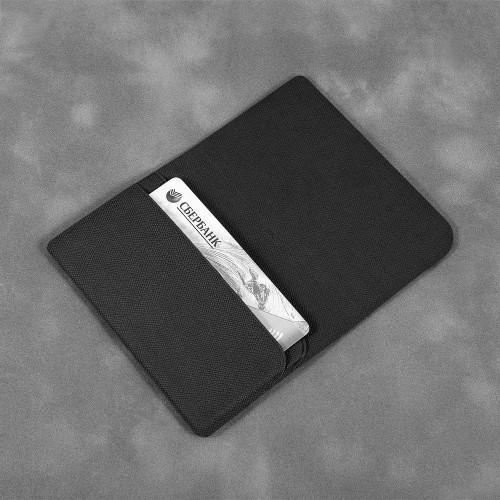 Жесткий футляр для трех пластиковых карт, цвет черный