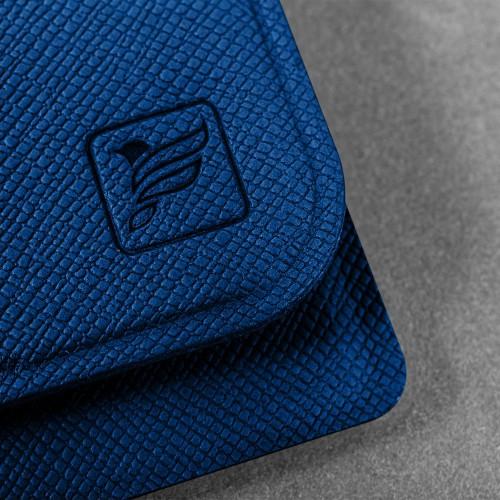 Жесткий футляр для трех пластиковых карт, цвет темно-синий