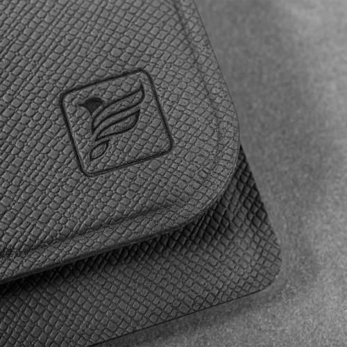 Жесткий футляр для трех пластиковых карт, цвет серый