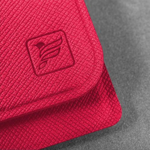 Жесткий футляр для трех пластиковых карт, цвет маджента