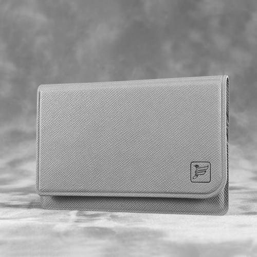 Жесткий футляр для трех пластиковых карт, цвет светло-серый