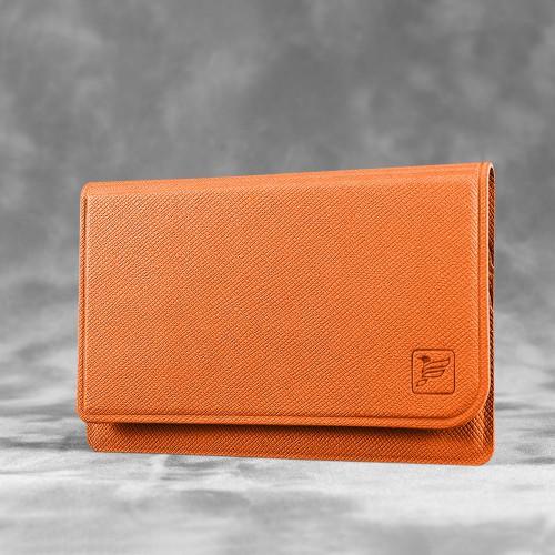 Жесткий футляр для трех пластиковых карт, цвет оранжевый