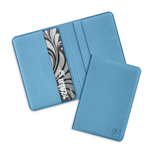 Жесткий футляр для пластиковых карт, цвет голубой