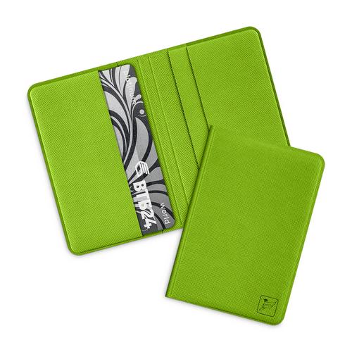 Жесткий футляр для пластиковых карт, цвет зеленый
