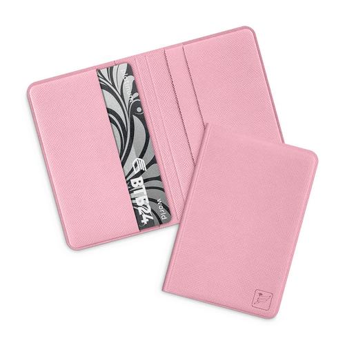 Жесткий футляр для пластиковых карт, цвет розовый