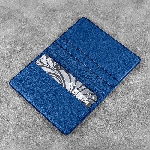 Жесткий футляр для пластиковых карт, цвет синий