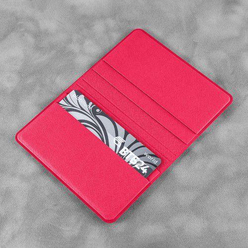 Жесткий футляр для пластиковых карт, цвет маджента
