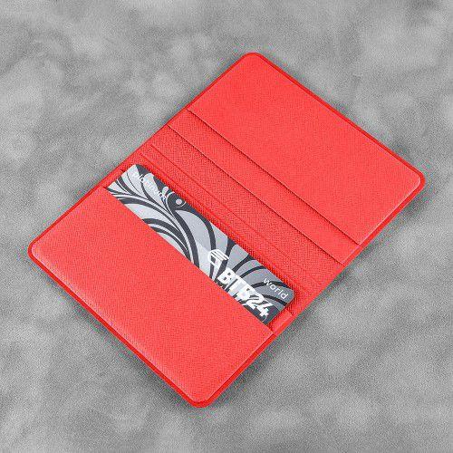 Жесткий футляр для пластиковых карт, цвет красный