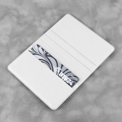 Жесткий футляр для пластиковых карт, цвет белый