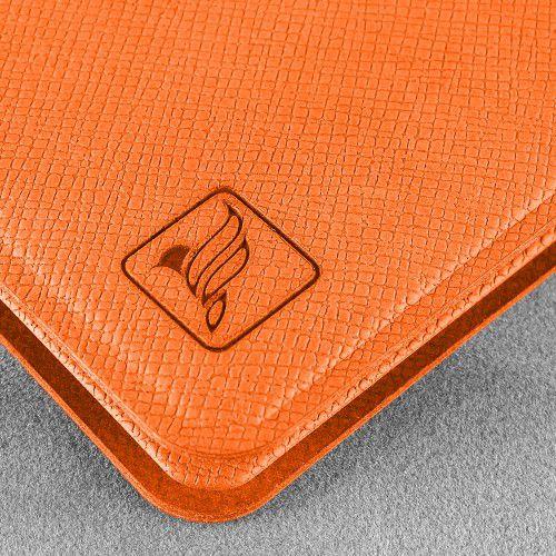 Жесткий футляр для пластиковых карт, цвет оранжевый