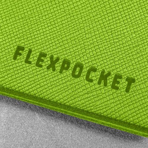 Картхолдер для денег и шести пластиковых карт, цвет зеленый