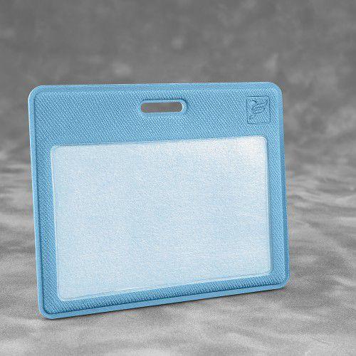 Карман горизонтальный, цвет голубой