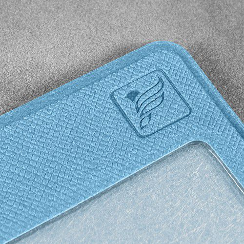 Карман горизонтальный с дополнительным отделением, цвет голубой